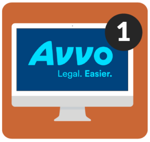 Avvo on desktop computer.