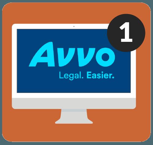 Avvo on desktop computer.