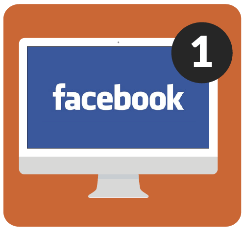 Facebook on desktop computer.
