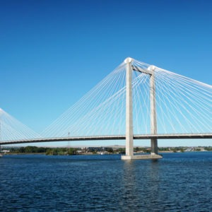 Cable bridge in the Tri Cities.