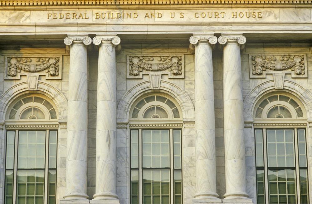 Federal court house pillars.